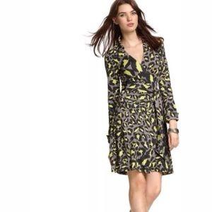 Diane Von Furstenberg Jeanne Silk Leopard Dress
